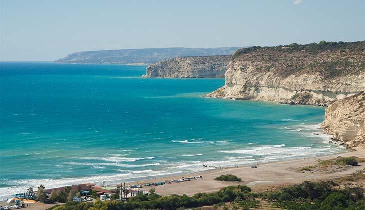 берег пляжа Курион пляжи Лимассола Популярные пляжи Лимассола limassol beach5